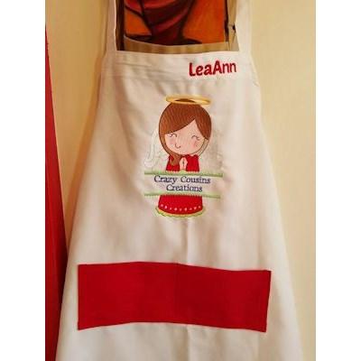 Leeann Split Christmas Apron