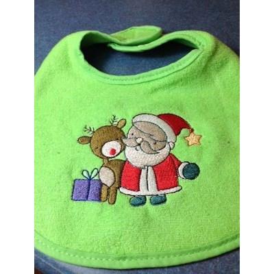 Robin Lil Santa Bib