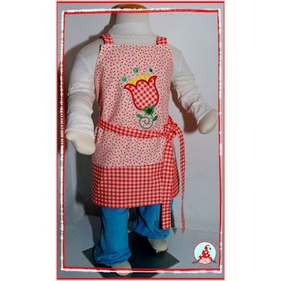 Fran Cute Flower Applique Apron Dec 16