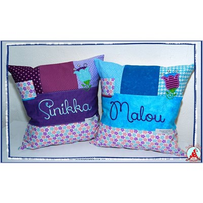 Fran Cute Flower Applique Cushions Dec 16