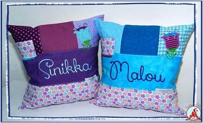 Fran Cute Flower Applique Cushions Dec 16