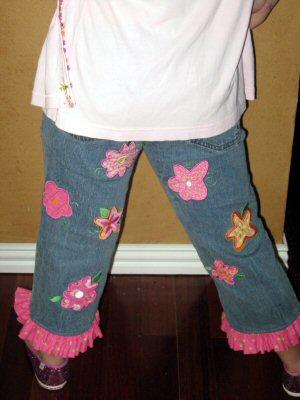 Joanns Funky Flower Applique Girls Jeans