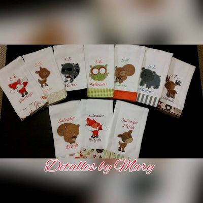 Marianne Forest Animals Burp Cloths Feb 16