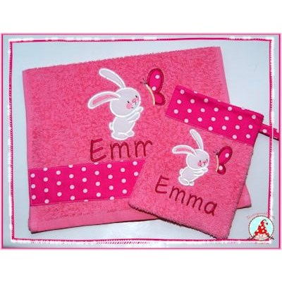 Fran Snuggle Bunny Towel Set Feb 17