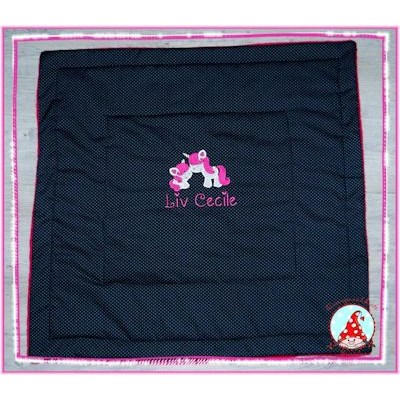 Fran Magical Unicorns Applique Baby Blanket Feb 17