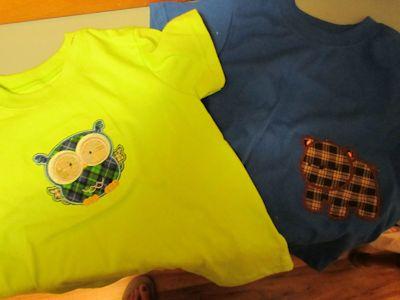 Bobbie Forest Animal Applique T-Shirts