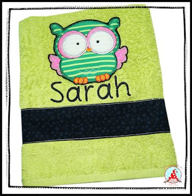 Fran Forest Animal Applique Towel