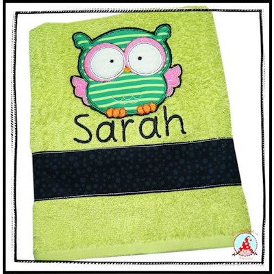 Fran Forest Animal Applique Towel