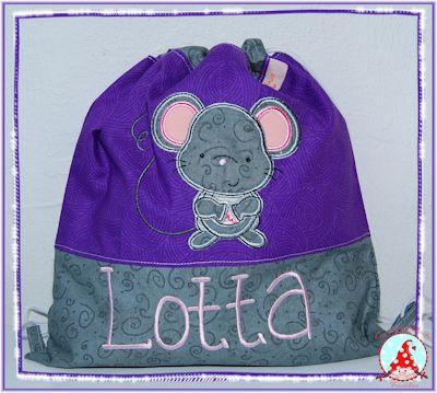 Fran Forest Animal Applique Purple Bag