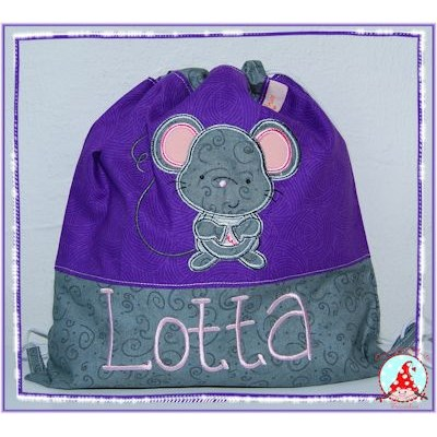 Fran Forest Animal Applique Purple Bag