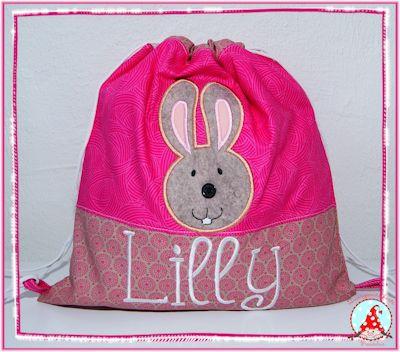 Fran Button Nose Applique Pink Bag