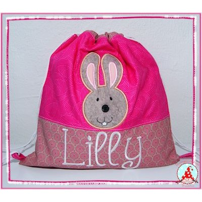 Fran Button Nose Applique Pink Bag