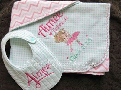 Lyn Ballet Cuties Bib and Blanket Jul 15