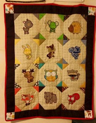 Terri Forest Animal Applique Quilt
