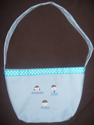 Jamies Little Faces Bags and Shirt