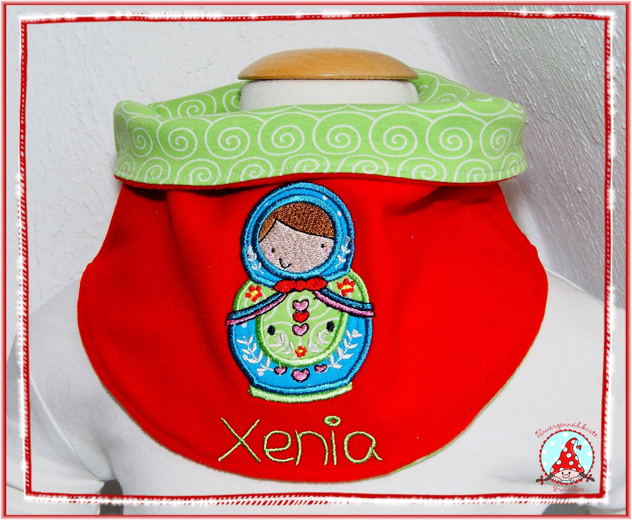 Fran Matryoshka Applique Bottle Holder Jun 16