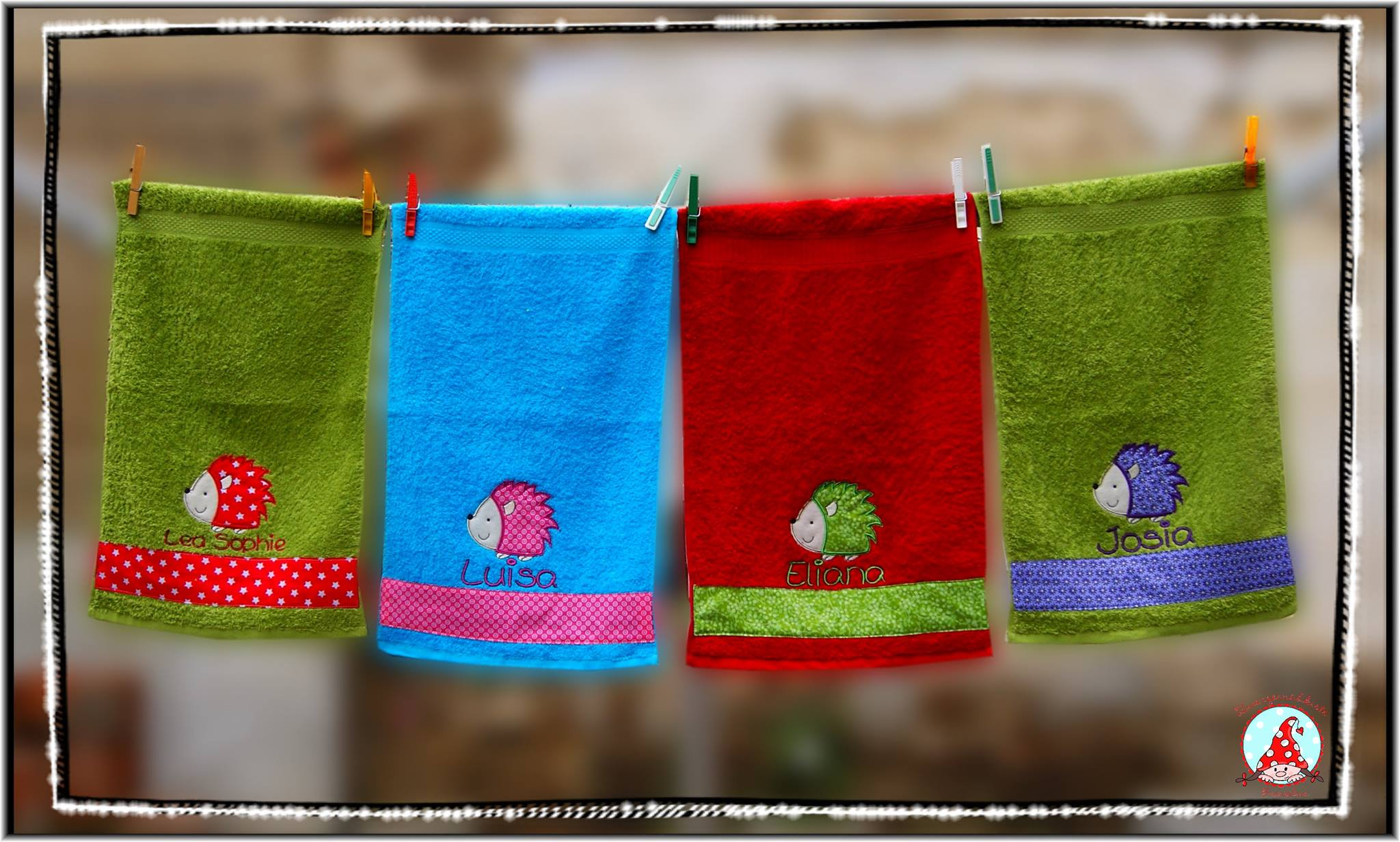 Fran Forest Animals Applique Towels Jun 16