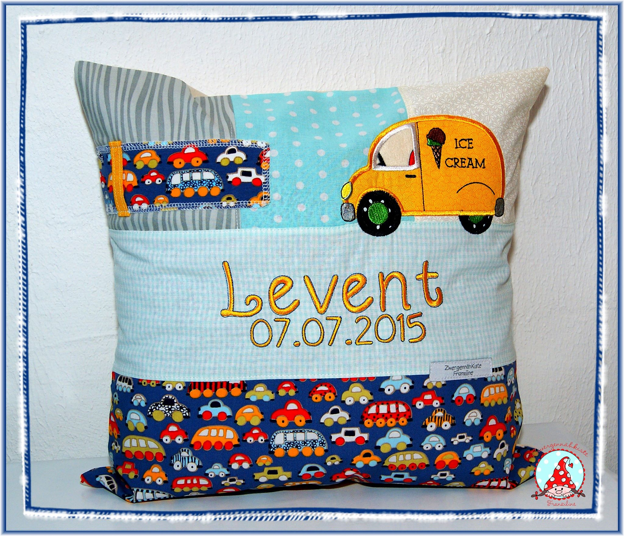 Fran Move It Applique Cushion Jun 16
