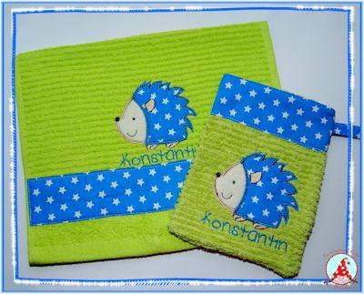Fran Forest Animals Applique Towels Mar 16