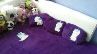 Fran Magical Unicorns Applique Bed Set May 17