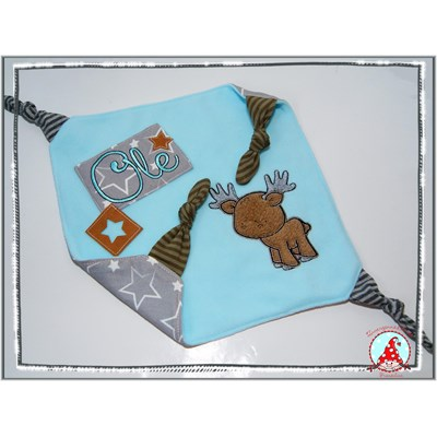 Frans Forest Animals Applique Taggie Blanket