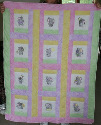 Lynns Little Jumbo and Nellie Quilt