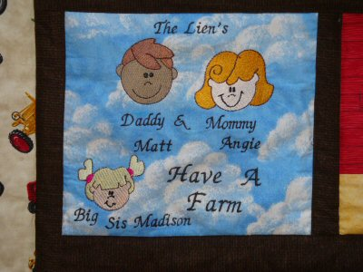 Theresa Farmyard Applique Quilt