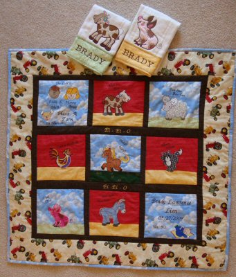 Theresa Farmyard Applique Quilt 3