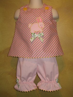 Maries Little Stitchies Too Applique Girls Outfit