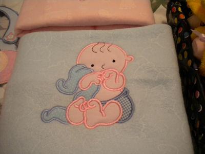 Marjories My Baby Applique Bunny Rug