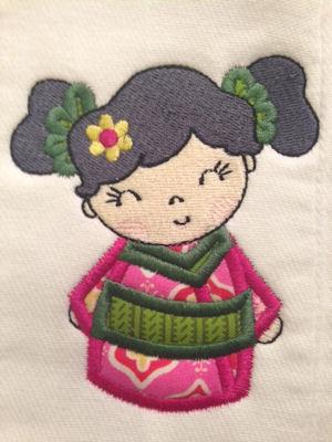 Jill Kokeshi Doll Appliques