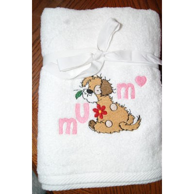 Louise Fluffy Puppies Towel