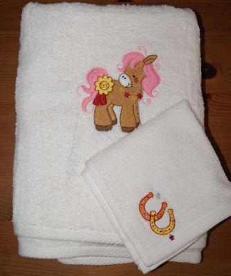 Louise Pretty Ponies Towel Set