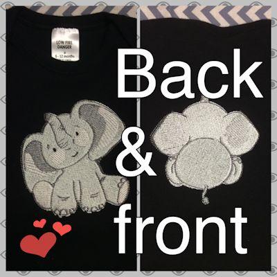 Vicki Baby Elephant Too Onsie Apr 16