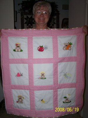 Helens Lil Cheri Cot Quilt