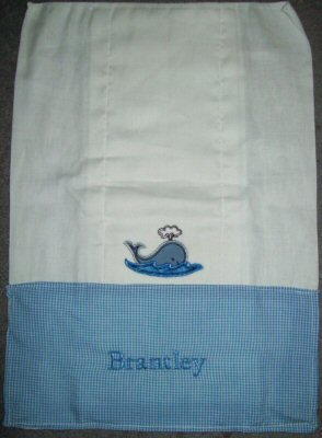 Jans Seaside Stitchies Applique Too Burp Cloth