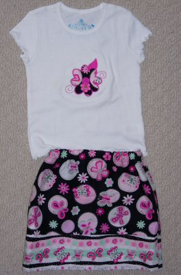 Katherines Funky Flowers Applique Outfit