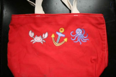 Kerrys Seaside Stitchies Tote