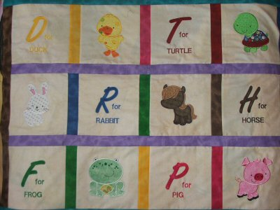 Alisons My Pet Applique Quilt