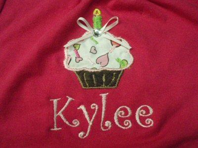 Ambers Cupcakes Burp Cloth
