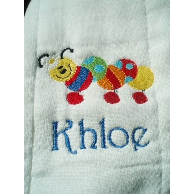 Ambers Bright Bugs Burp Cloth
