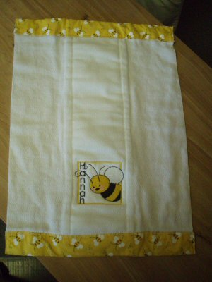 Ambers Spring Moments Burp Cloth
