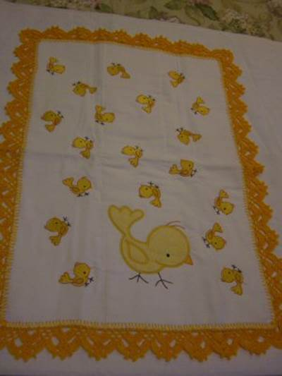 Mirtas Animals Minis and Sweet Applique Animals Receiving Blanket