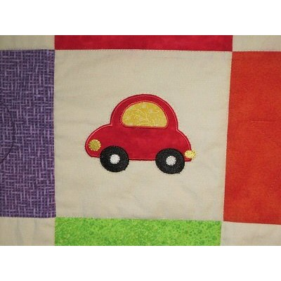 Carols Things That Go Vroom Applique Quilt