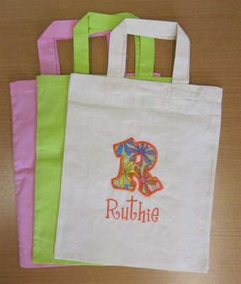 Ruths Kids Alpha Applique Totes