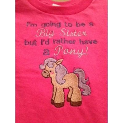 Jennifers Pretty Ponies Baby Announcement Shirt