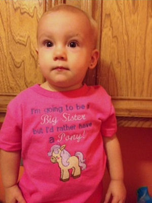 Jennifers Pretty Ponies Baby Announcement Shirt