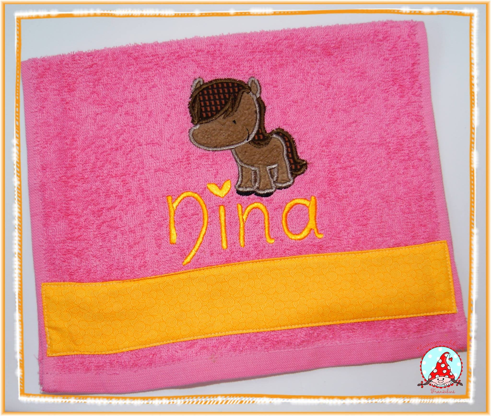 Fran My Pet Applique Hand Towel Aug 16