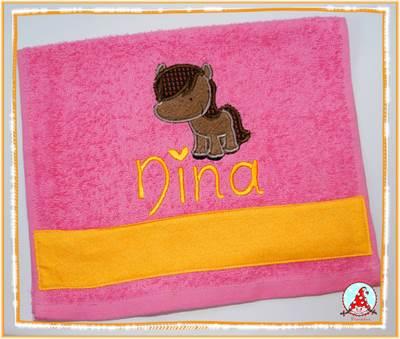 Fran My Pet Applique Hand Towel Aug 16
