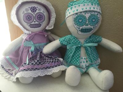 Purses By Paula Sugar Skull Dolls Aug 16
